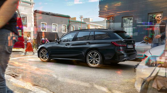BMW 3er Touring M Heck von links hinten