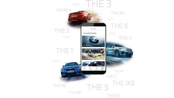Smartphone mit BMW Kataloge App