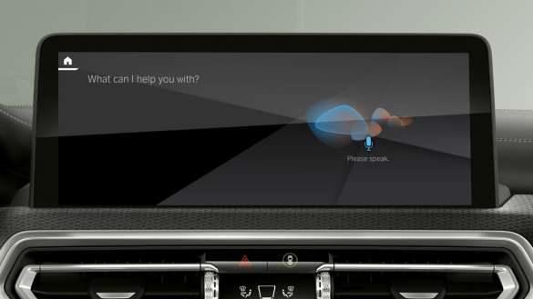 BMW Intelligent Personal Assistant BMW iX3 G08 2021 Control Display Innenraum